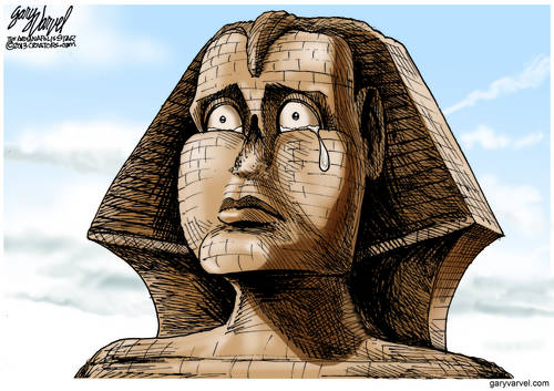 Things Are So Bad In Egypt That Even The Sphinx Is Shedding Tears