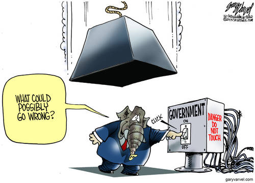 Grand Old Elephant Turns Off The Power. What Could Possibly Go Wrong. The Law Of Unintended Consequences.