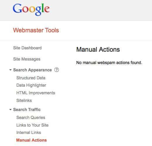 no manual actions