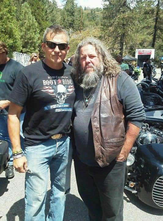 Tim Abell with Mark Boone Junior, Sons Of Anarchy