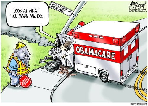 Clueless Obamacare Backers cartoon