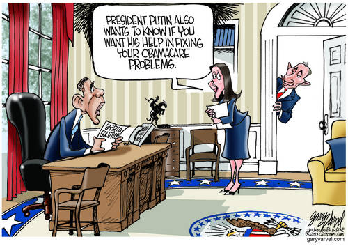 Whats Next? Mr. Fixit Putin Offers To Help Obama With His Obamacare Issues