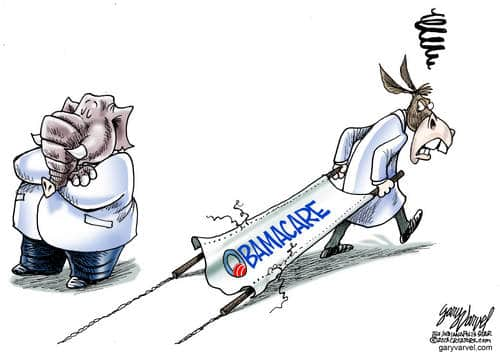 Obamacare Suffers A Setback, As One Stretcherbearer Carries On By Himself