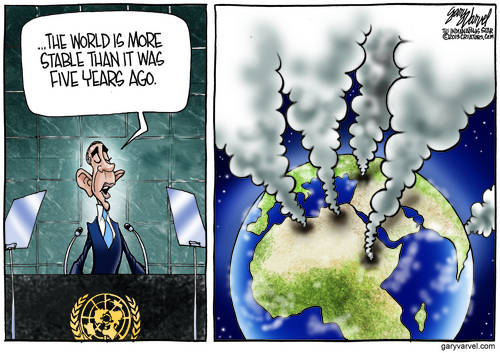 Obama Tries Stand Up Comedy In United Nations Speech - Everyone Laughs