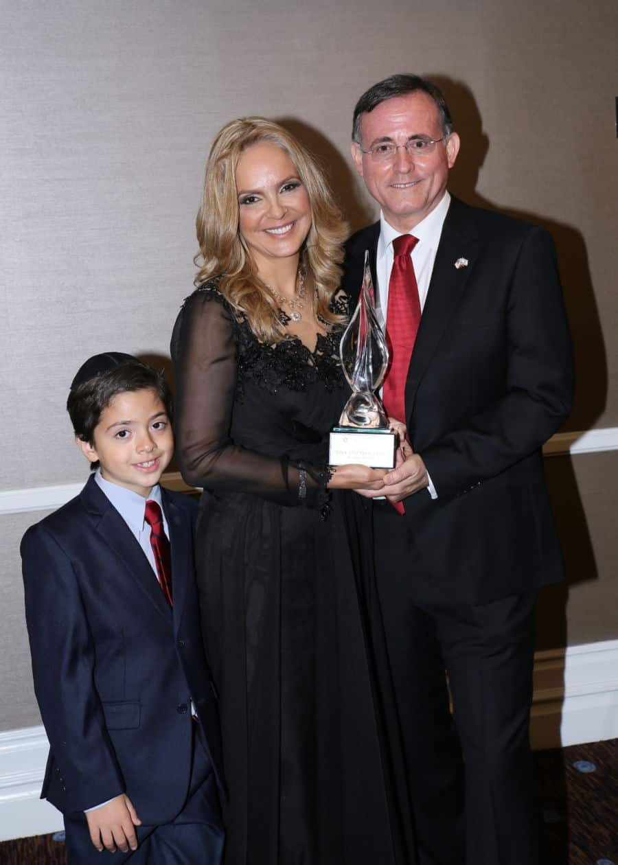 Dina and Fred Leeds and their youngest son Charlie Photo Orly Halevy