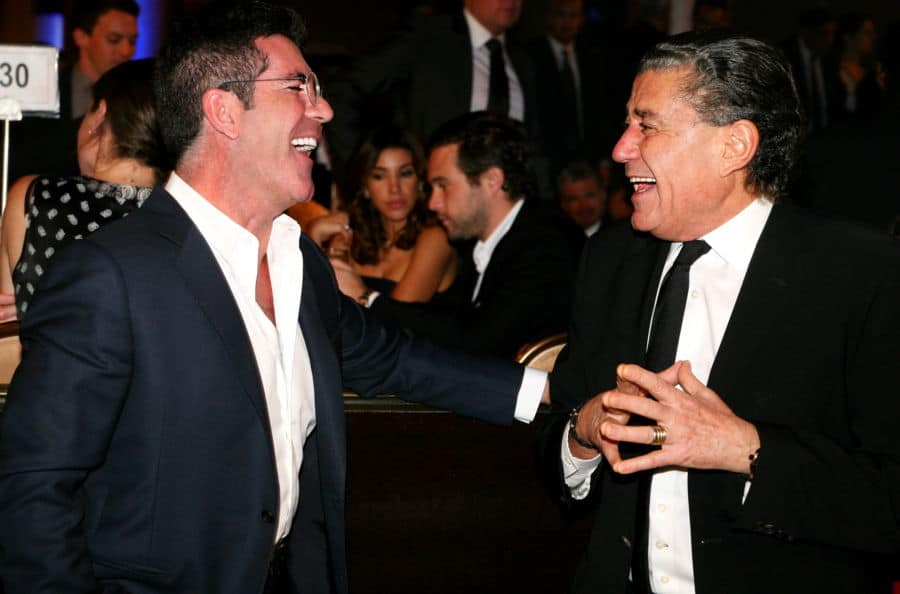 Simon Cowell and Haim Saban enjoy the gala Photo by Noam Chen
