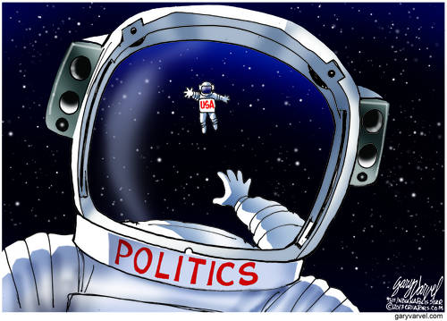 Untethered, USA Floats Off Into Space As Politics Half-Heartedly Reaches Out