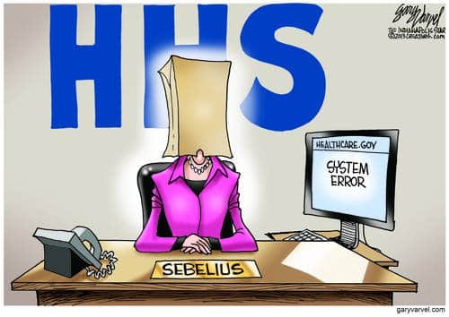 HHS Sebelius: Not Really Here, See Nothing, Hear Nothing, Know Nothing
