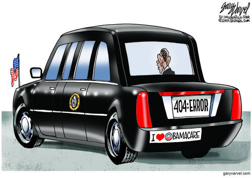 Obamamobile Displays New Licenseplate, Showing Healthcare.gov Feature