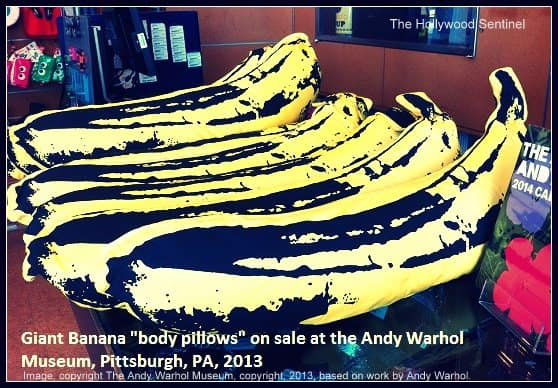 warhol final banana pillows