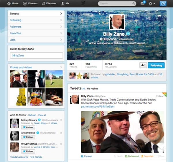 BillyZane Tweet ProEcuador Business Matchmaking2013