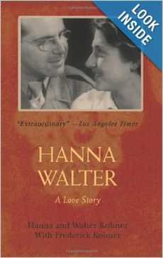 Hanna Walter A Love Story book cover