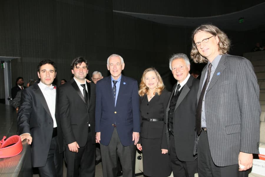 From L Conductor Roi Azoulay Cantor Netanel Baram Dr. Stephen Schloss Liebe Geft director Museum of Tolerance Cantor Nathan Lam Mr. Stefan Biedermann Deputy Consul General Federal Republic of Germany