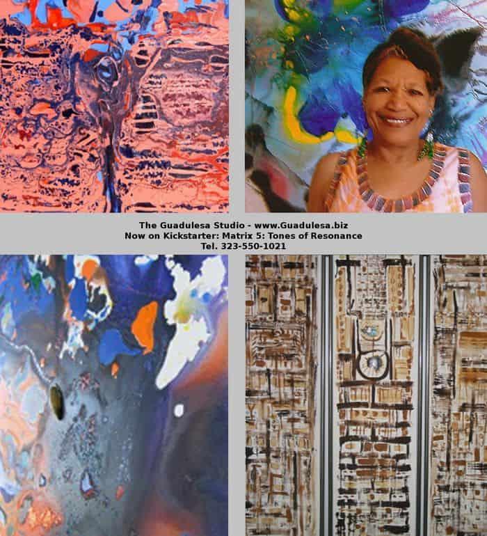 Guadulesa with her work