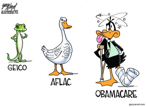 Cute Animals - The Geico Gecko, The Aflac Duck, Obamacare Has A Real Joke