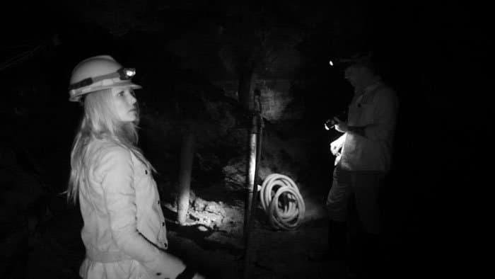 kristen in the mine