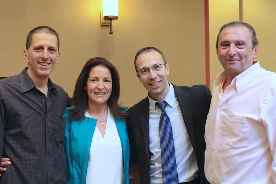 From L Ari Bussel, Zohreh Mizrahi, Joe Hyams Phto Neptune Mizrahi