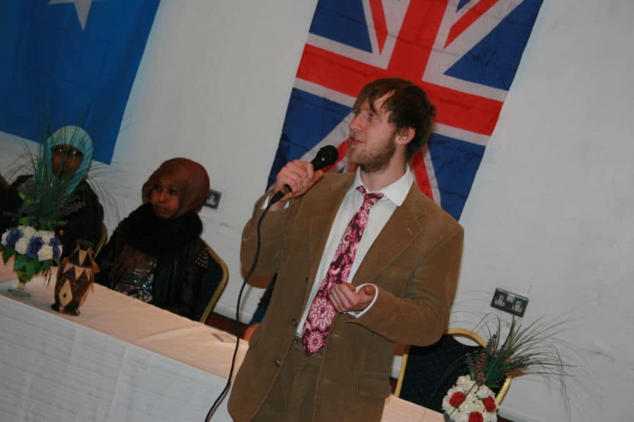 Mr Felix waterhouse addresses the ceremony Photo By Ubah Olad