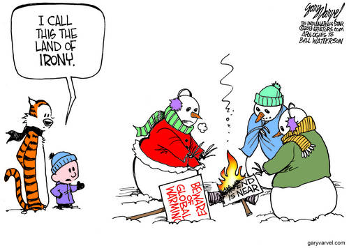 Now The Snow Is Falling, Our Thoughts Turn To Al Gore And Global Warming