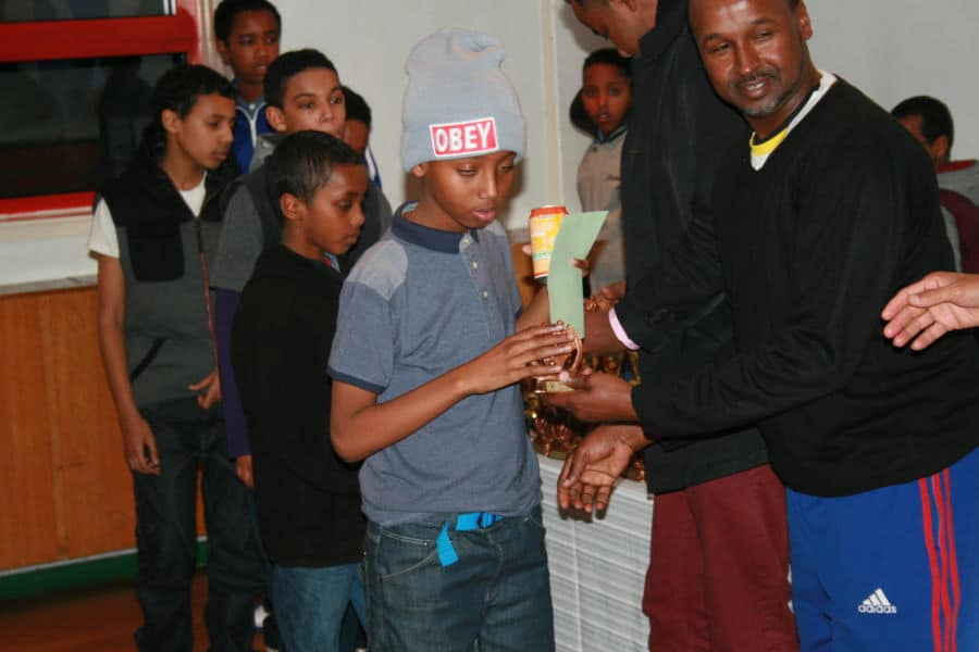 some of the boys in line for their awards Phto By Ubah Olad
