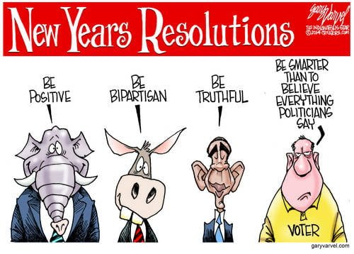 Excellent Political New Years Resolutions For 2014