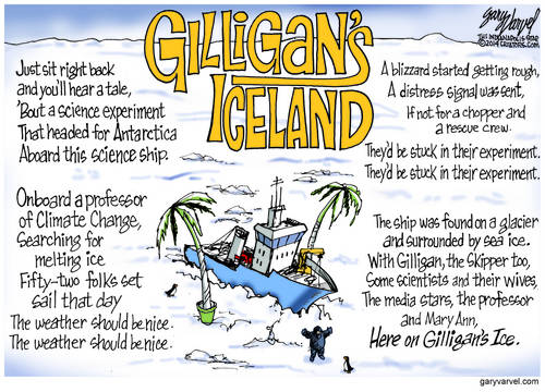 Anthropogenic Global Warming Scientists Stuck Fast In Gilligans Icefield