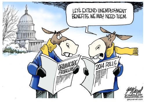 Democrats Decide To Extend Unemployment Benefits, After Checking The Polls