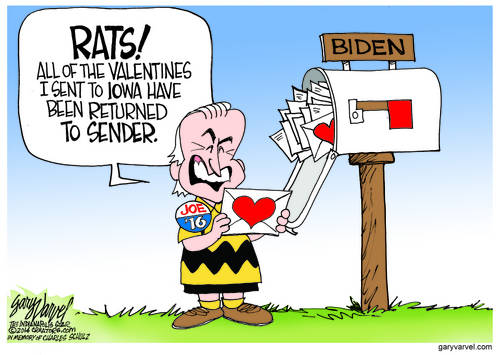Iowa May Not Like Hillary Clinton, But Likes Joe Biden Less - Valentines Returned