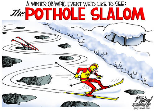 The Pothole Slalom May Trace Its Roots To Sochi, So Store That Fact In Your Memory