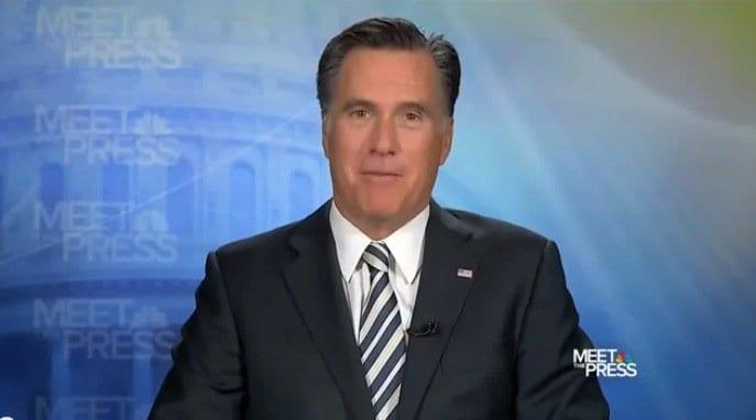 mitt romney meet the press