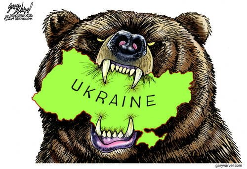 The Russian Bear Sinks Its Teeth Into Ukraine, for Many Reasons