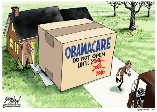 The Obamacare Package Delivery Man Returns, To Defer The Open Date - Again