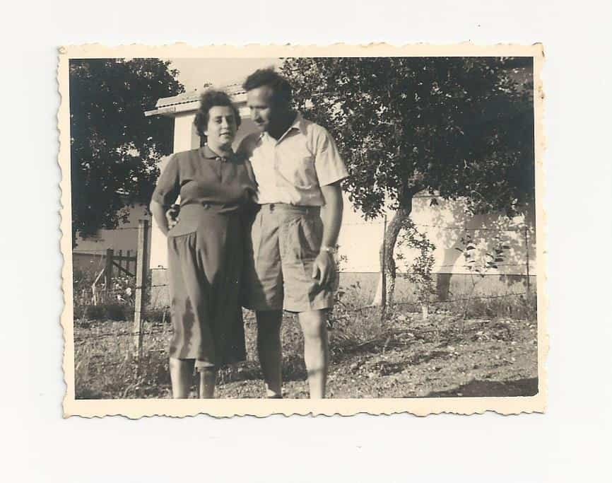 1947 Rachel Katz Gringer and Yisrael Gringer in Israel