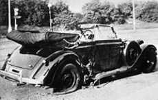 Heydrich damaged car
