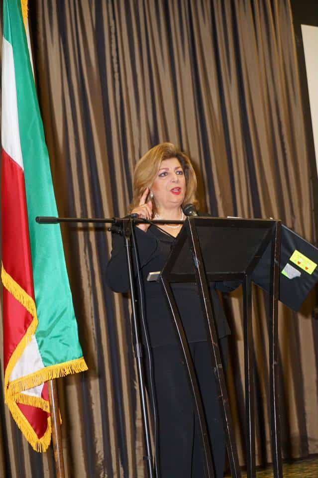 Shahla Zargarian Javdan IAJF President delivers her comments Photo Orly Halevy