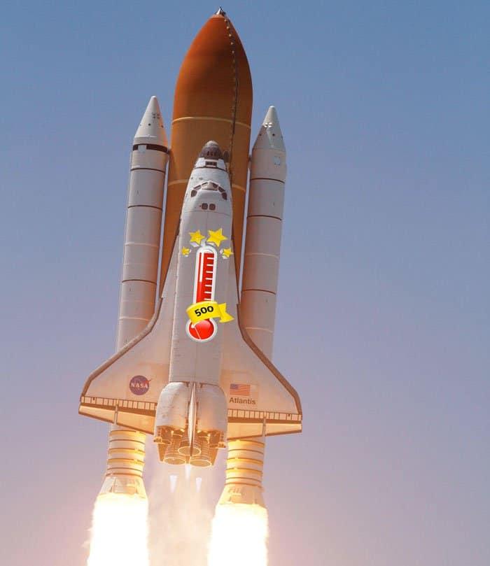Empire Avenue go leaders rocket ship.