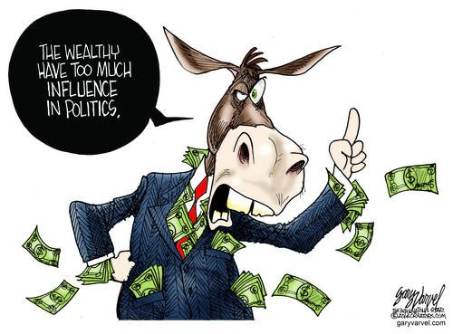 Wealthy Democrats, With Money Stuffed In All Their Pockets Rail Against The Wealthy
