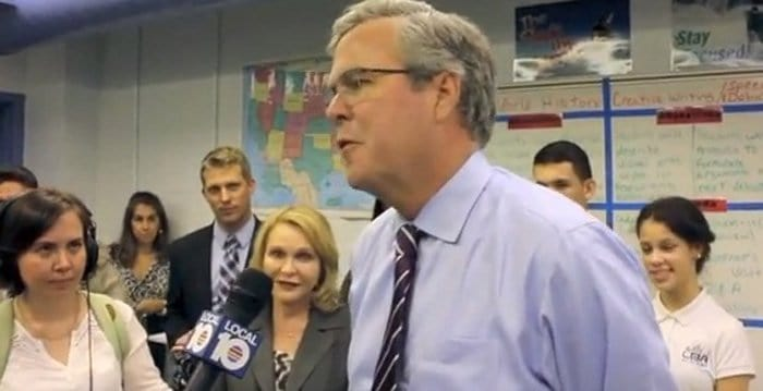 jeb bush deflecting questions