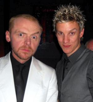 Mike Beckingham with his 'A list' brother Simon Pegg. Photo c/o Mike Beckingham