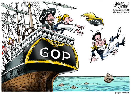 The Tea Party Throws Eric Cantor Overboard - Establishment Fails Voters