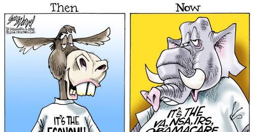 Democrat Battle Cry Was Its The Economy Stupid, Now Its Benghazi, Bergdahl, VA, IRS, NSA, Fast & Furious Etc Etc Etc