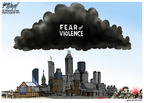 The Fear Of Violence Hangs Over The Big City, In a Black Cloud