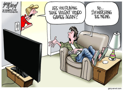 Parents Worried Children Are Playing Violent Video Games Discover They Are Watching The News