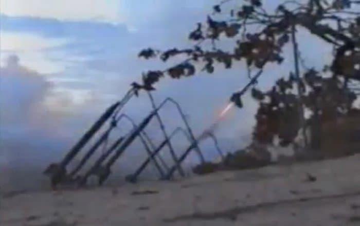 hamas fires rockets towards israel