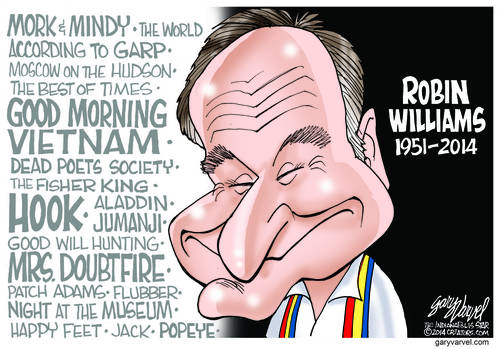Robin Williams, The Funny Entertaining Man Loved By So Many, Has Left The Building. RIP Robin