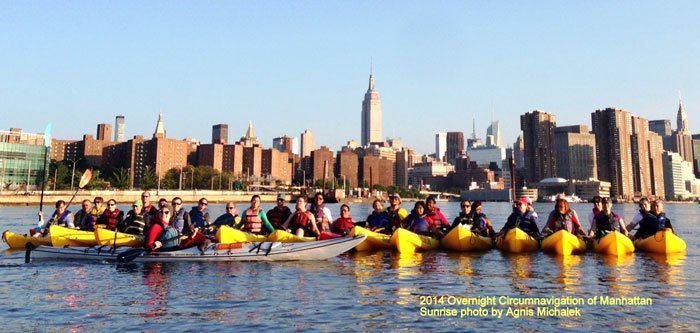 kayak group sunrise