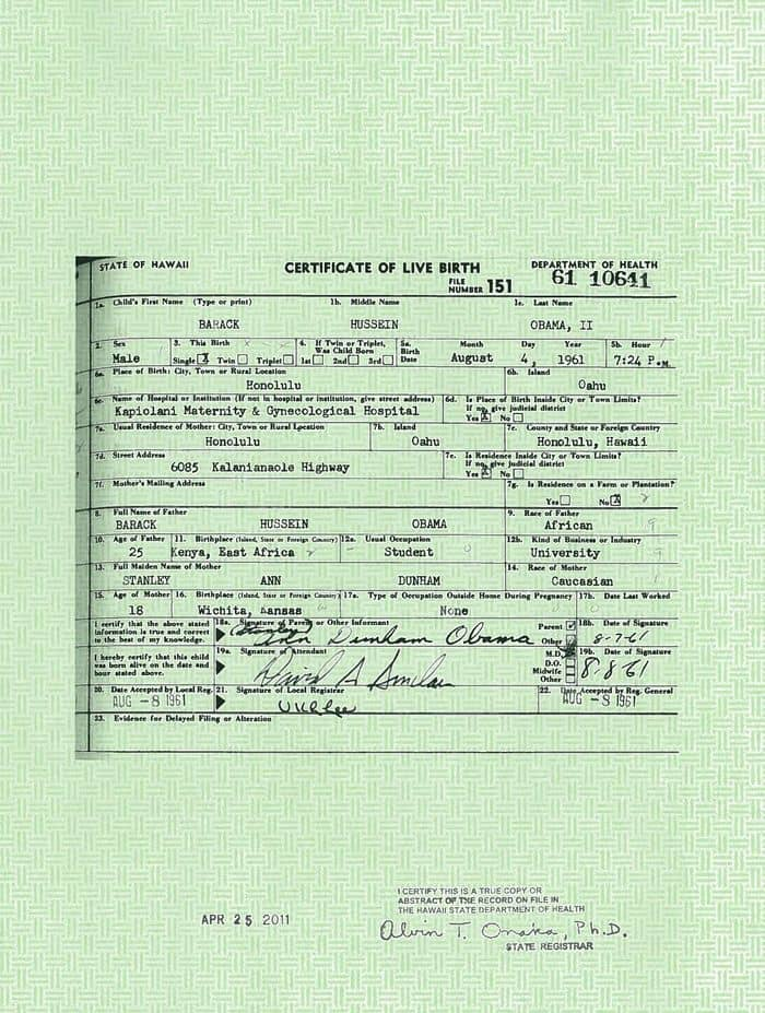 White House Finally Answers Question On Obama Birth Certificate ...