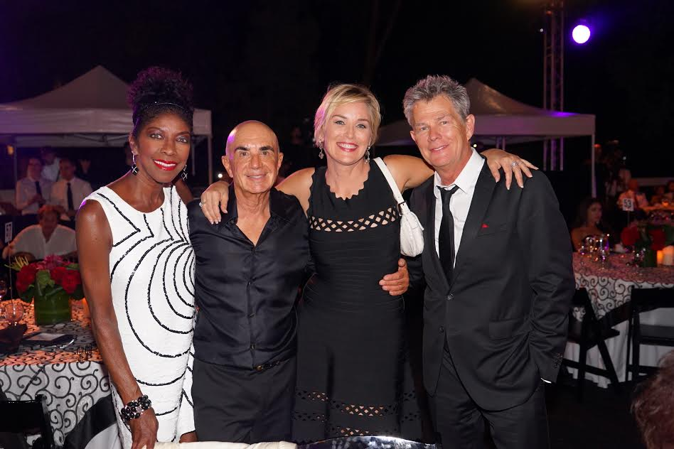 From L Natalie Cole Robert Shapiro Sharon Stone composer David Foster Photo Orly Halevy