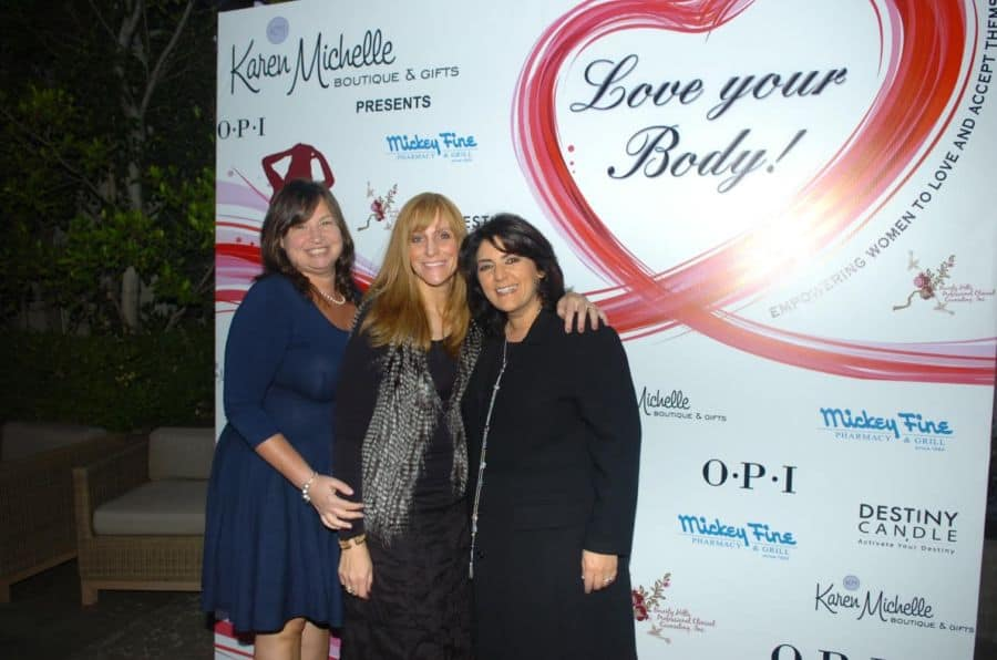 R Karen Halaszi Mia Adler Ozair and a guest