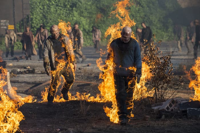 burning walking dead